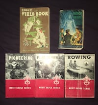 Collection of Old Boy Scouts of America books scouting vintage collectors Hyattsville