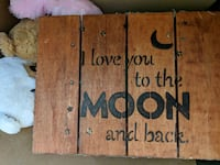 i love you to the moon and back wall art Mesquite, 75149