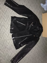 black leather zip-up jacket Dallas, 75225