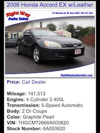 Honda - Accord - 2006 Westampton, 08060
