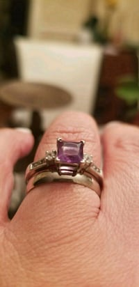 10kt Gold Amethyst wedding set  Laytonsville, 20882