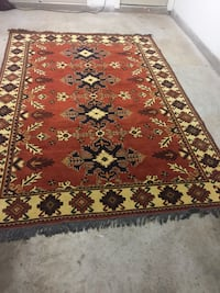 Red and brown floral area rug Sterling, 20165