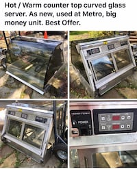 Curved glass hot/warm server. Was used in Metro for 1 yr. like new condition   Brampton, L6X 0A4