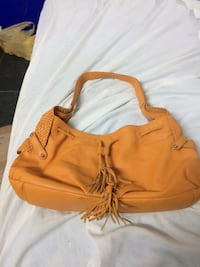 Women's dark orange hobo shoulder bag. New. Italian leather. Cp Alcoa, 37701