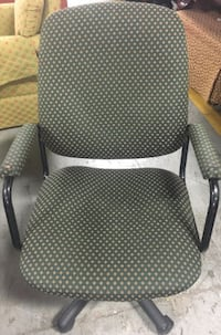 Green Pattern office chair $15 Toronto, ON, Canada