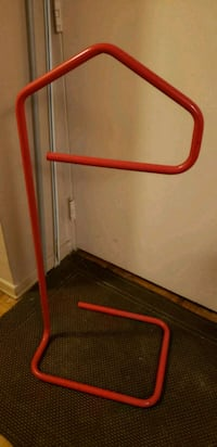 Antique vintage red metal clothes frame  Toronto, M9A 4X9