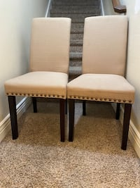 2 DHI Nice Nail Head Upholstered Dining Chair