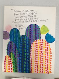 Cactus painting with Frida quote  Long Beach, 90813