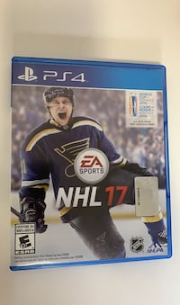 PS4 NHL17 Video Game Disc + World Cup of hockey mode, play online