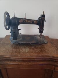 Vintage White Sewing Machine and Cabinet Burke, 22015
