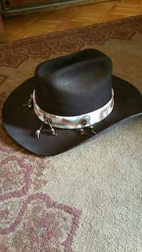 cc3110090d1 Used brown and black leather cowboy hat for sale in Minneapolis - letgo