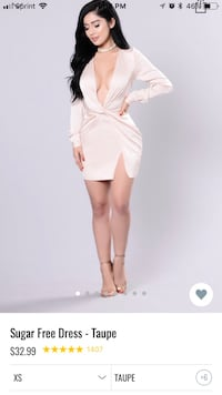 women's white long-sleeved dress Roselle, 07203
