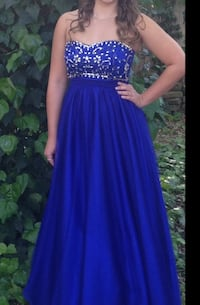 Formal or Prom dress. Beautiful beading on bodice. Worn once Shavano Park