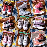 9 new Converse all Stars kids only we have one of each sizes on each