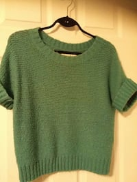 Womens small short sleeved sweater in turquouse gr Peterborough