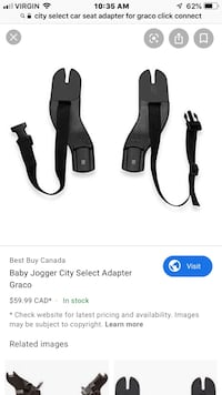 City select car seat adapter for graco click connect car seat Calgary, T3K 3K7