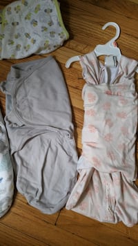 Newborn swaddle and sleep sacks