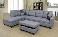 Gray fabric sectional sofa with throw pillows Everett, 98208
