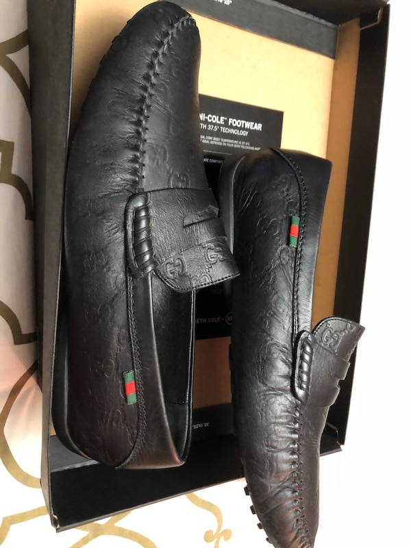 ebb4e11924e Used Authenticity Gucci Loafers Men s Black Leather Shoes for sale in New  York - letgo