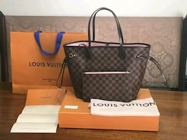 lv neverful bag high quality no box or pa per bag