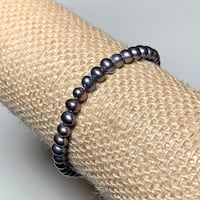 Vintage Black Pearl Bracelet with 10k Gold Clasp Ashburn, 20147