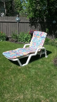 white steel frame chaise lounge chair Edmonton, T5T 2V5