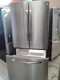 stainless steel french door refrigerator null