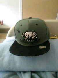 black and gray Cali fitted cap Sacramento, 95821