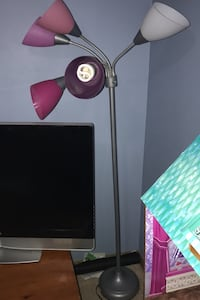 Pink and purple lamp