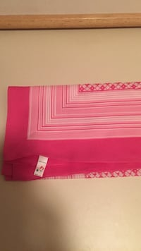 Large pink patterned scarf
