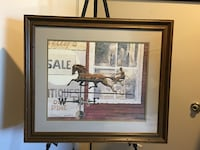 Large framed Wind vane art Quincy, 02169