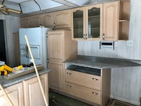 Solid wood kitchen cabinets with excellent condition  Mississauga, L5A 2J7
