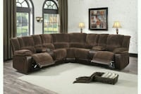 HOMELEGANCE Hankins Brown Reclining Sectional 1211 mi