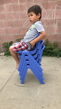 Kids plastic chairs stackable Los Angeles, 90016