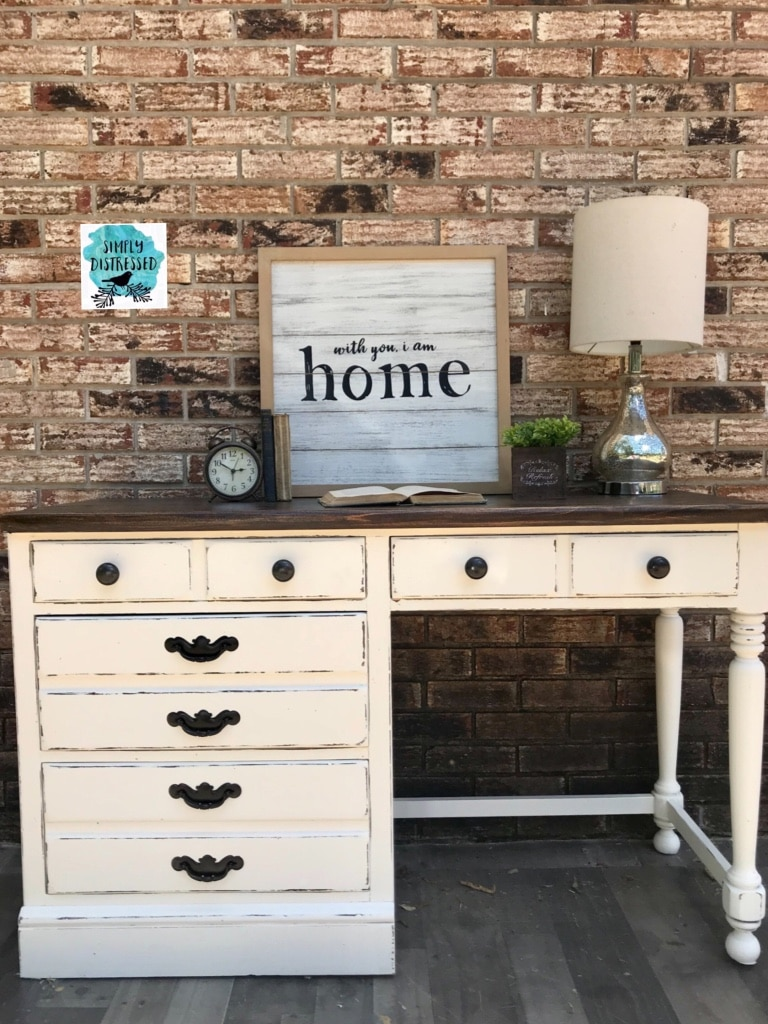 Refinished Ethan Allen Desk