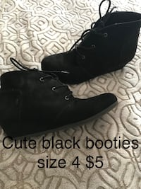 Girls Black Booties Size 4 Ann Arbor, 48103