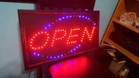 open sign bue and red Toronto, M6B 3J3