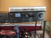Onkyo 6.1 ch, 75 watts amp receiver, Technics 5 disc changer East Northport, 11731