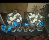 two white rose centerpieces Palm Bay, 32909