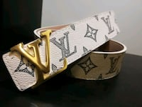 White lv belt with gold buckle Calgary, T2C 5B1