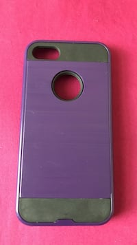purple and black iPhone case