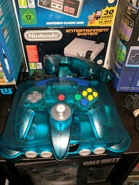 Ice blue n64 one controller