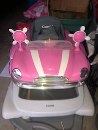 baby's pink and white Combi walker 1489 mi