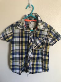 black, white, and red plaid sport shirt Cypress, 90630