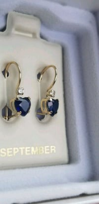 10kt gold Sapphires hearts Earrings  Laytonsville, 20882