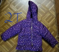 Girls purple star winter coat Minot, 58701