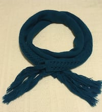 Teal blue knitted scarf Vancouver, V6G 2C9