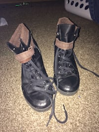 pair of black leather combat boots Martinsburg, 25404
