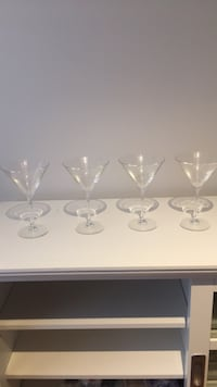 Set of four cocktail glasses 16 km