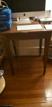 brown wooden single-pedestal desk 41 km